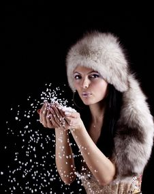 Free Winter Woman. Stock Photography - 31959122