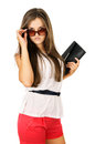Free Glamor Beautiful Girl In Sunglasses Royalty Free Stock Images - 31962989