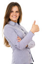 Free Business Woman Showing Sign Ok Royalty Free Stock Images - 31964009