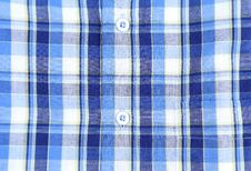 Plaid Man Shirt, Button Close-up Background Royalty Free Stock Images