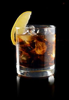 Free Cocktail With Ice Cola Whiskey Stock Images - 31969254
