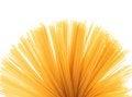 Free Fan Of Raw Pasta Spaghetti Macaroni Isolated Stock Image - 31977001