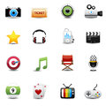 Free Entertainment And Movie Icons Set Stock Image - 31979991