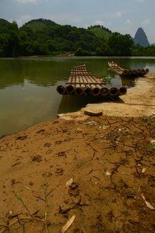 Free Abandoned Bamboo Rafts Stock Image - 31974331