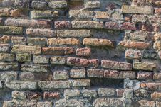 Medieval Fortress Antique Brick Rampart Detail Stock Photo