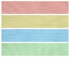 Free Set Of Fabric Swatch Samples Royalty Free Stock Images - 31977739