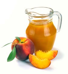 Free Peach Juice And Fruit Stock Photography - 31977872