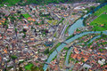 Free Swiss Town From Above Royalty Free Stock Photography - 31980967