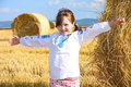 Free Small Rural Girl On Harvest Field Stock Photography - 31991312