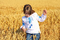 Free Rural Girl On Wheat Field Royalty Free Stock Photography - 31991397