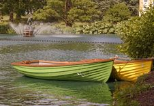 Free London, Kew Gardens: Colorful Boats Royalty Free Stock Photography - 31990537
