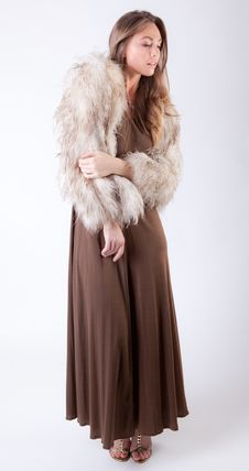 Beautiful In Brown And Beige Stock Photo