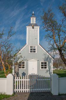 Free Traditional Icelandic Church - Skútustaðakirkja Stock Photos - 31992313