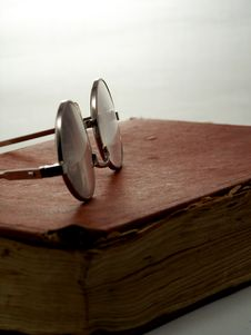 Free Glasses On Book. Stock Photos - 320603