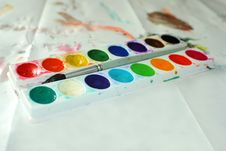 Free Child S Watercolors Stock Images - 322584