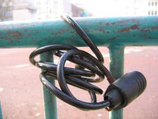 Free Abandoned Bike Lock Royalty Free Stock Photography - 322927