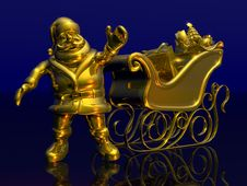 Free Solid Gold Santa Stock Image - 323421