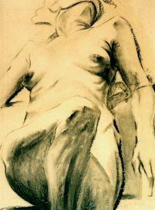 Naked Woman Torso Royalty Free Stock Photo