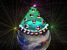 Free 3D-Merry Christmas! (gr) Royalty Free Stock Images - 324869