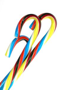 Free Colored Candy Canes Royalty Free Stock Images - 325409