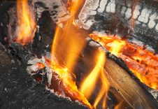 Free Texture Of Burning Open Fireplace Royalty Free Stock Photo - 325625