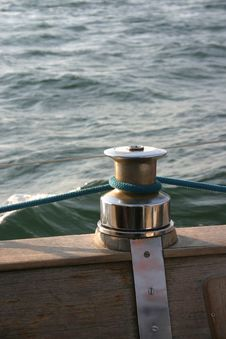 Free Capstan On Wooden Deck Stock Photo - 325690