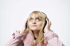 Free Girl With Headphones Stock Image - 326061