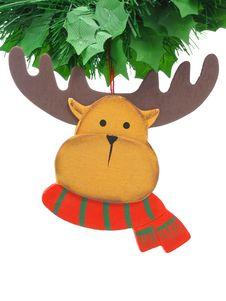 Reindeer Tree Ornament Stock Images
