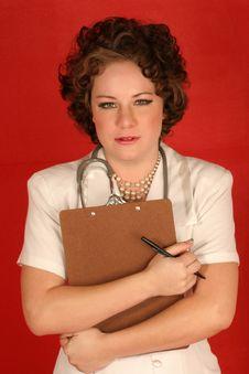 Free Sympathetic Nurse Royalty Free Stock Image - 327636