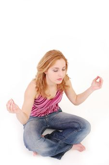 Free Girl In Meditation Pose 4 Stock Photography - 328832
