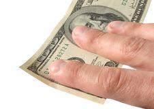 Free Hand Holding One Hundred Dollars Stock Image - 329551