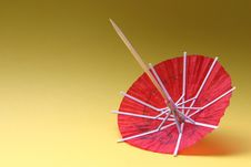 Free Cocktail Umbrella - Red Royalty Free Stock Image - 329786