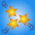 Free Christmas Stars Stock Image - 3200751