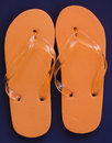 Free Orange Flip Flops Stock Image - 3209281