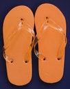Free Orange Flip Flops Stock Image - 3209281