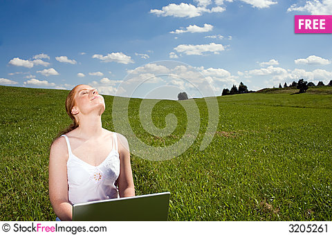 Free Laptop Outdoor Recreation Stock Image - 3205261