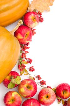 Free Pumpkins And Apples Stock Images - 3200904