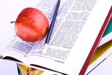 Free Books And Apple Stock Photo - 3200990