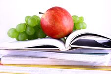 Free Books And Apple Stock Images - 3201064