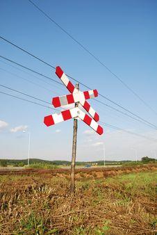 Free Roadsign - Railway Crossing Stock Photo - 3201070
