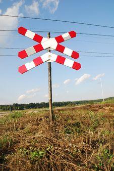Free Roadsign - Railway Crossing Stock Images - 3201134