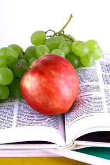 Free Books And Apple Stock Image - 3201141