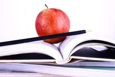 Free Books And Apple Stock Image - 3201201