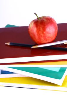 Free Books And Apple Stock Photo - 3201250