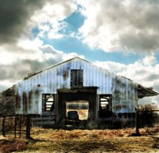 Blue Barn Royalty Free Stock Images
