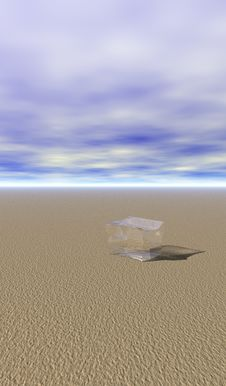 Ice In Desert Royalty Free Stock Image