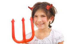 Free Devil With Tricky Smile Stock Photo - 3202890