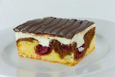 Free Chocolate Cake With Cherry And Stock Photo - 3203210