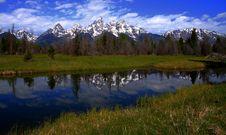 Free Teton Reflection 2007-2 Stock Photos - 3203333