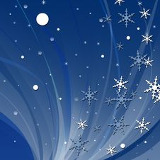 Free Abstract Snowflake Background Royalty Free Stock Photos - 3203488